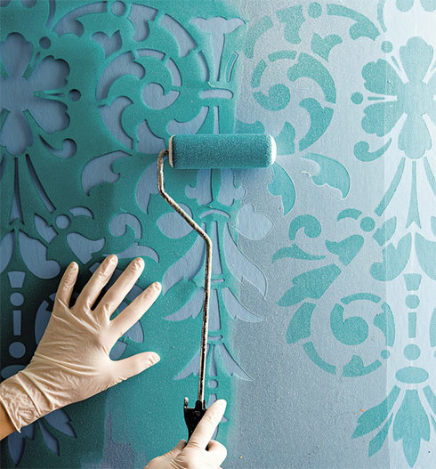 Dirigent for Interior wall painting ideas stenciling