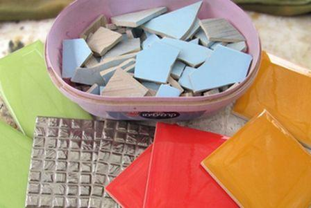 Как сделать мозаику из битой плитки