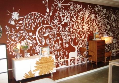 Делаем трафареты для покраски стен в квартире