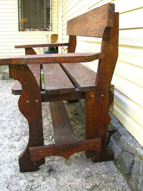 Делаем скамейки для дачи