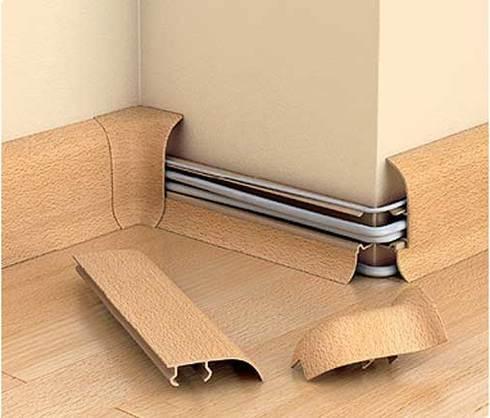 Как прикрепить плинтус с кабель каналом к бетонной стене, полу