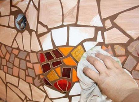 Как сделать мозаику из битых плиток 692