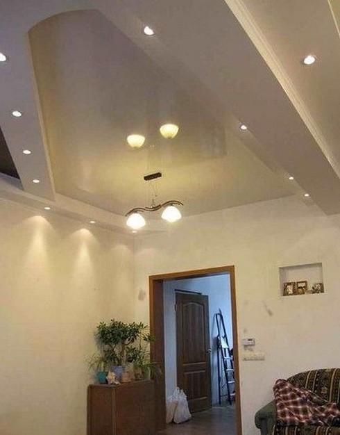 Гипсокартонные конструкции на потолке