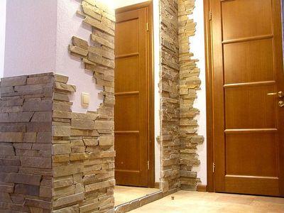 На что клеить искусственный камень в квартире