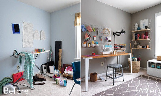 10 творческих комнат до и после