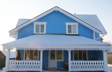 Варианты отделки для деревянного дома