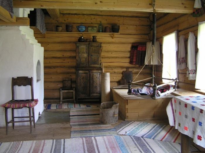 Русская изба. Интерьер и структура