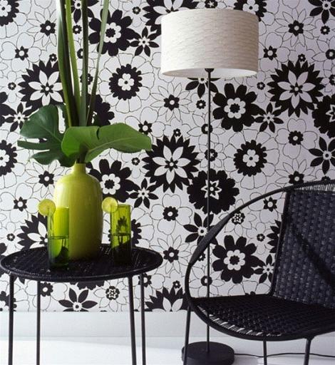 Черно-белые обои в интерьере. Обои в интерьере гостиной: фото. Интерьер спальни: обои