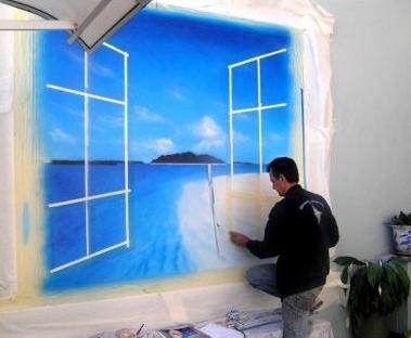 Аэрография на стене - новое направление в оформлении интерьера