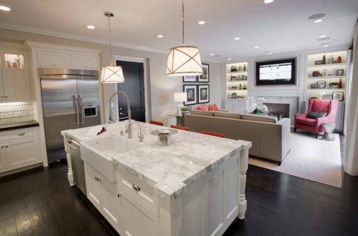 Дизайн кухни-гостиной. Два помещения, объединенные в одно