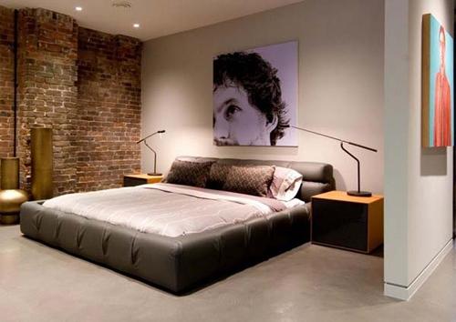 Как оформляется спальня в стиле лофт