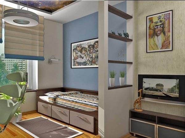 Оформление и зонирование комнаты для родителей и ребенка