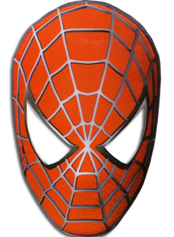 Делаем маску Человека-Паука из