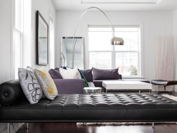 Современные дизайнерские решения: четкие линии, яркие цвета и неисчетно подушек