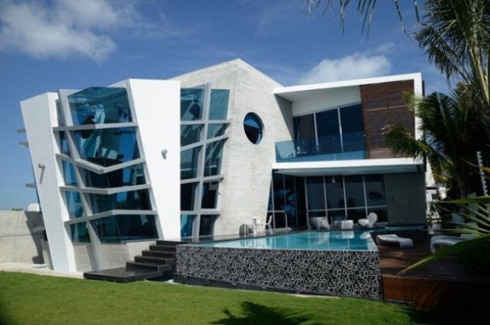 Футуристический хата во Канкуне