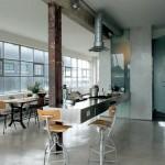 Индустриальные кухни: 45 идей
