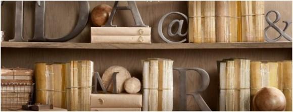 Литературные акценты во интерьере
