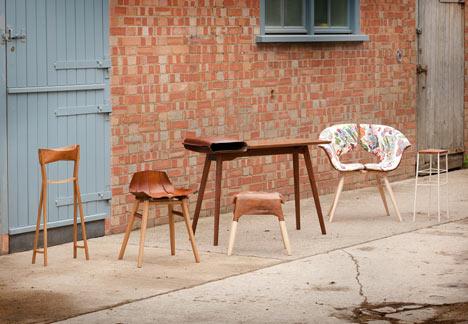 Коллекция мебели изо варёной кожи