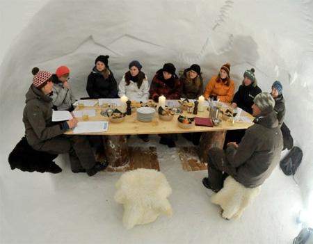 Снежные дома ото Iglu-Dorf