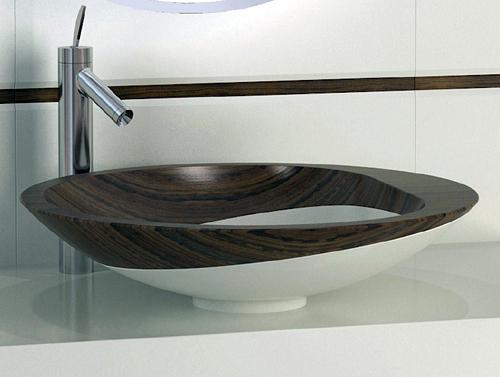 Деревянная ванная<br />  комната