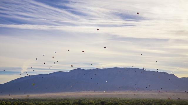 Шоу воздушных шаров во Альбукерке