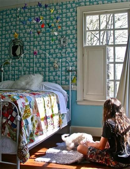 15 примеров ярких обоев в детской