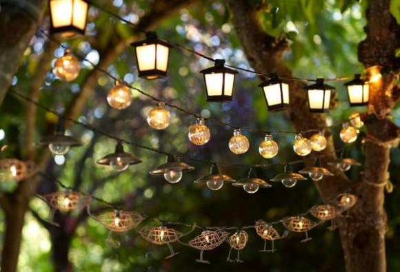 Освещение стола в<br />  саду
