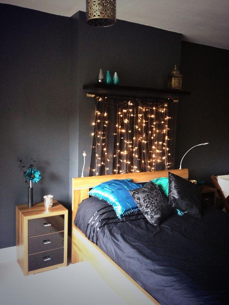 Гирлянды во спальне. 32 идеи